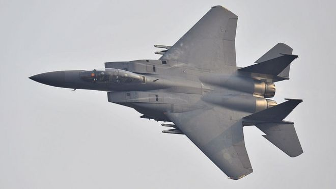 A South Korean F-15K fighter jet