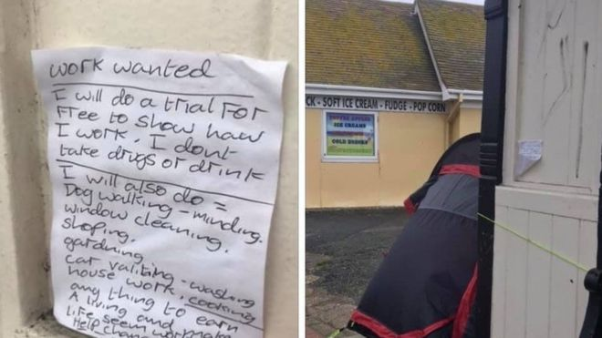 Hastings Bus Stop Note Lands Homeless Man Job