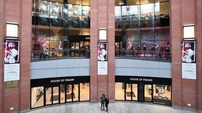 bc8461ad55 House of Fraser commits to Belfast Victoria Square store - BBC News