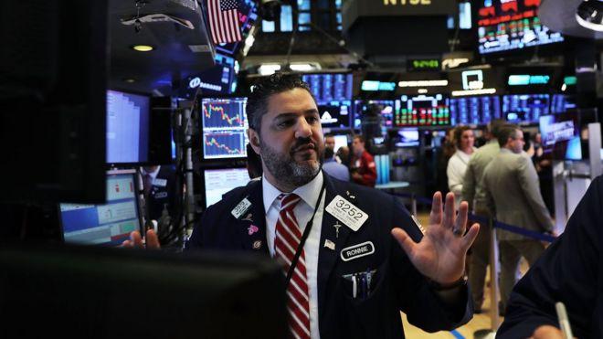 Operador de bolsa em Wall Street, nos Estado Unidos