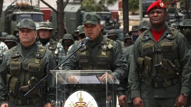海天酱油不达标File photo of Venezuelan Defence Minister Gen Vladimir Padrino in Caracas (3 May 2020)