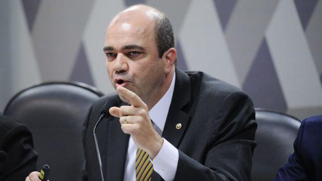 O procurador-geral do Trabalho, Ronaldo Fleury, durante audiência no Senado