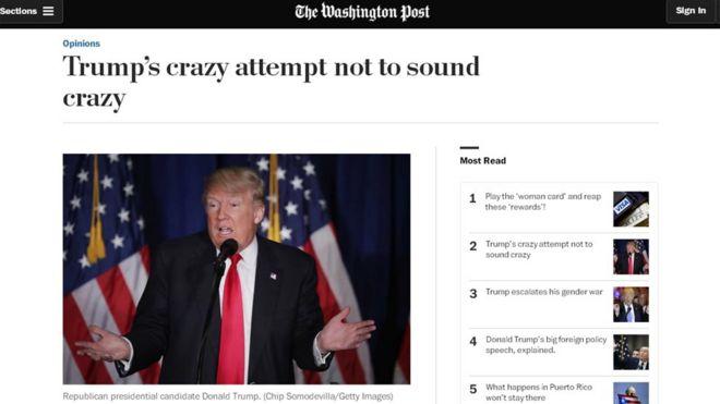 Снимок экрана с The Washington Post