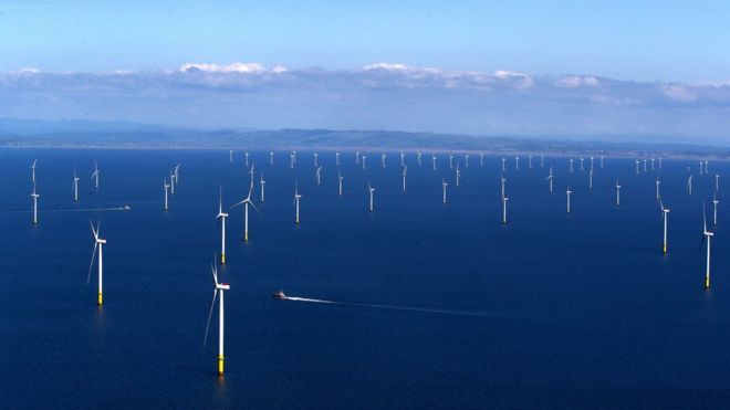 walney 1bn offshore wind farm is world s largest bbc news