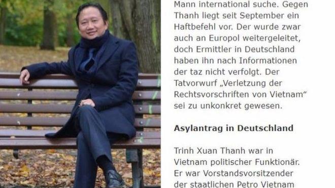 Ông Trịnh Xuân Thanh bị đưa lên xe hơi hôm 23/7 rồi đem sang một quốc gia châu Âu láng giềng, báo Taz viết