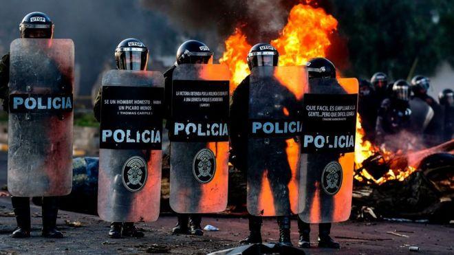 Policías en el Chapare