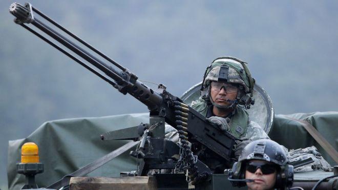 США регулярно проводят совместные военные учения вместе с войсками Южной Кореи