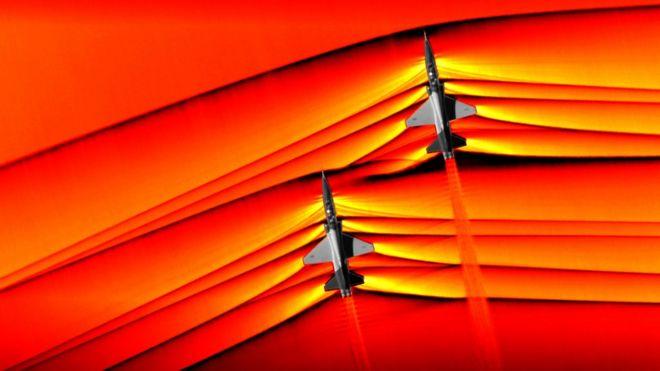 Imagem de ondas supersônicas