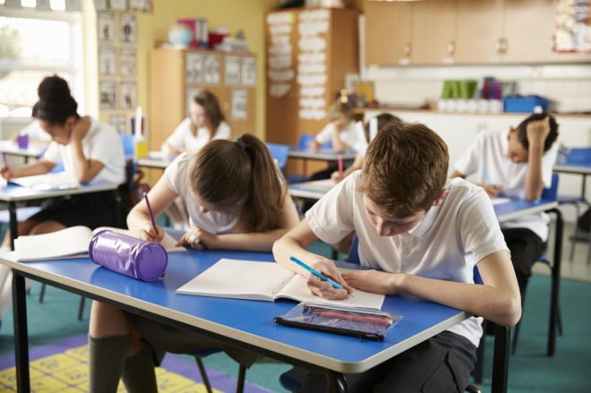 number of children taught in large classes trebles bbc news
