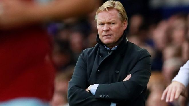 Ronald Koeman looks dejected