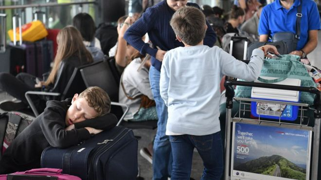 Newspaper headlines: Airport misery and 'rebel bid' to halt