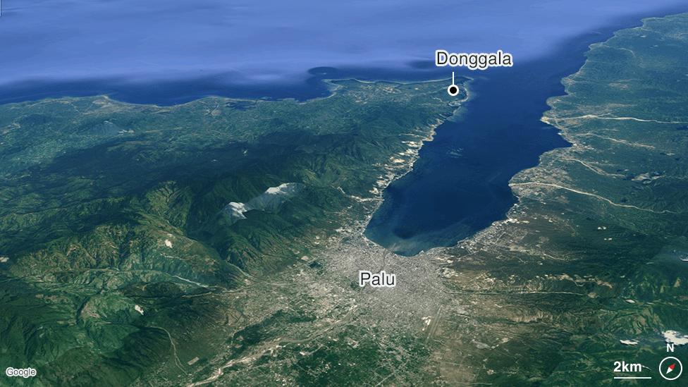 Map of Palu bay