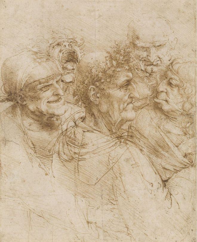 The drawing A man tricked by Gypsies by Leonardo Da Vinci