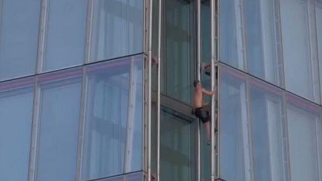 The Shard: Free-climber spotted scaling London landmark