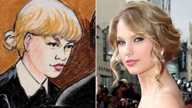 Taylor Swift's court sketch: A misunderstood art - BBC News
