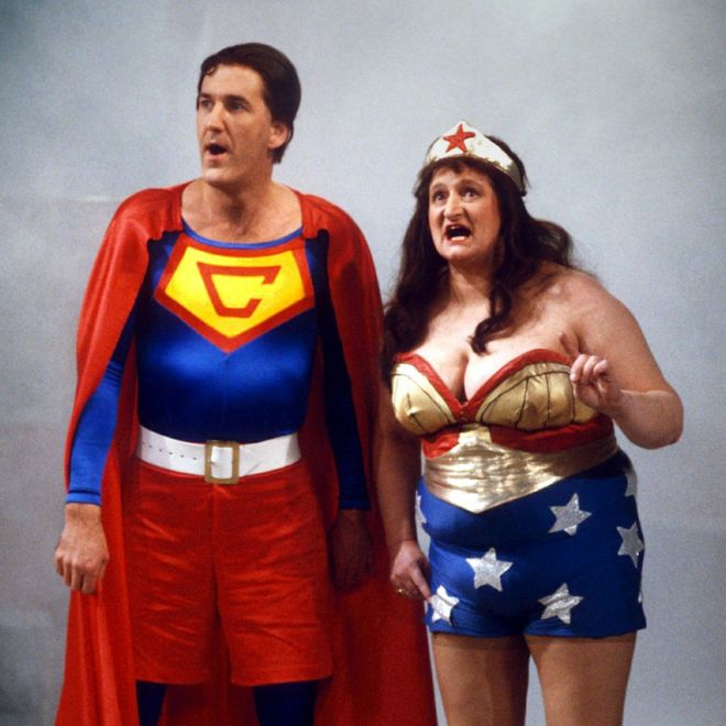 Russ Abbot and Bella Emberg