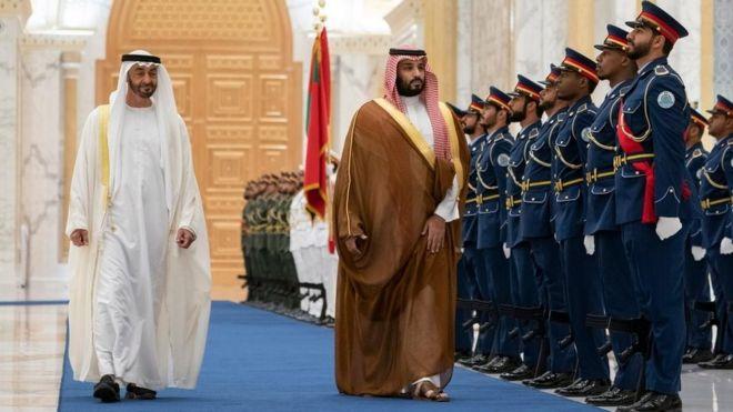 من زيارة سابقة لولي العهد السعودي إلى الإمارات