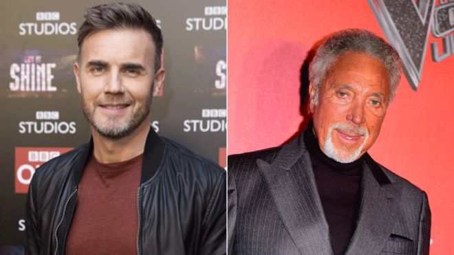 Gary Barlow and Tom Jones