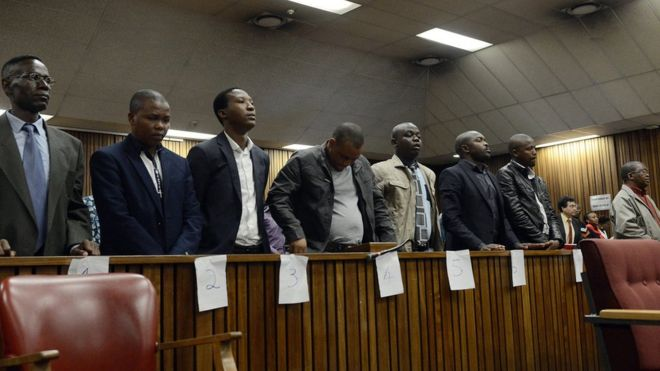 The ex-officers in court