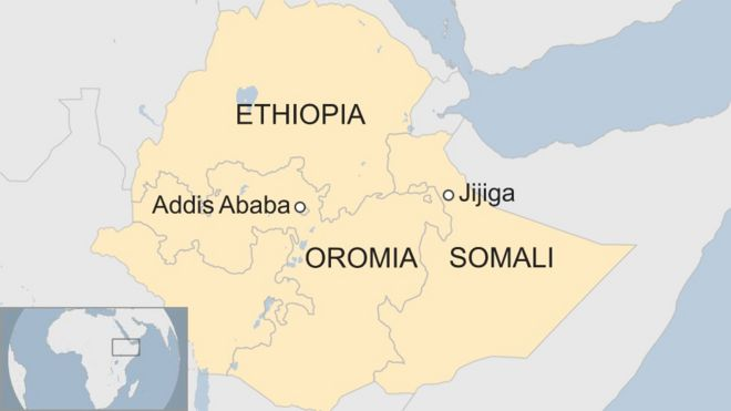 Jijiga Ethiopia Map Ethiopia police find mass grave of 200 people   BBC News