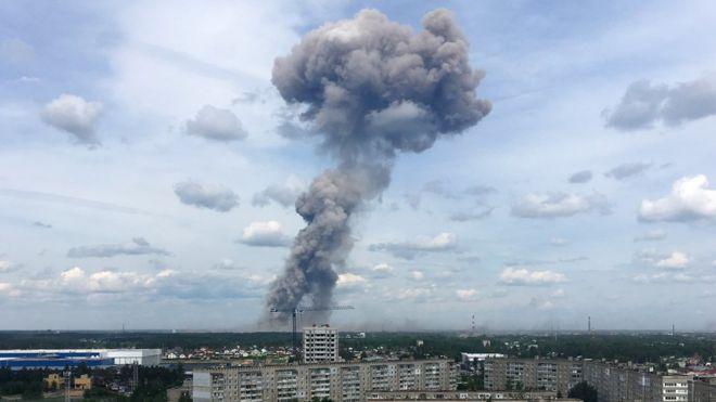 """Взрыв на оборонном предприятии """"Кристалл"""" в Дзержинске 1 июня 2019 года"""