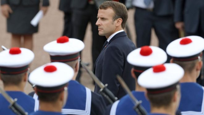 France's Macron brings back national service - BBC News