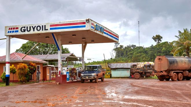 Guyoil gas station in Guyana