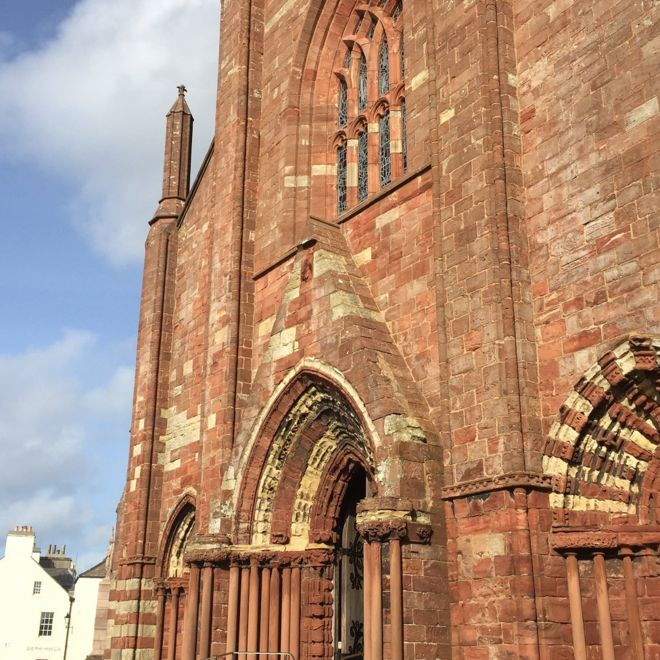 Exterior of St Magnus cathedral