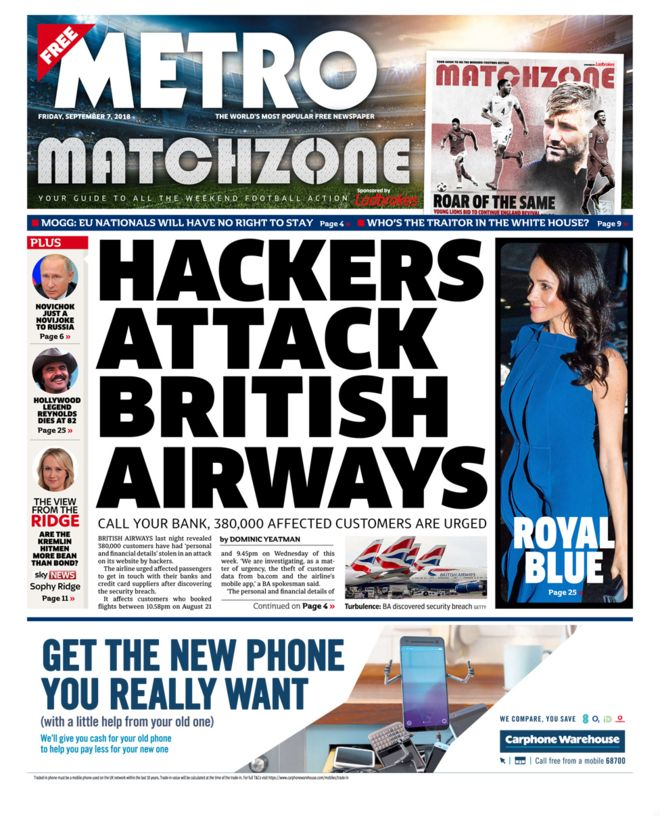 British Airways suffered significant costs of a cyber attack, including a record GDPR fine.