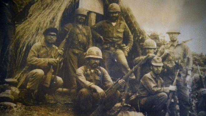 Гондурасские солдаты на линии фронта