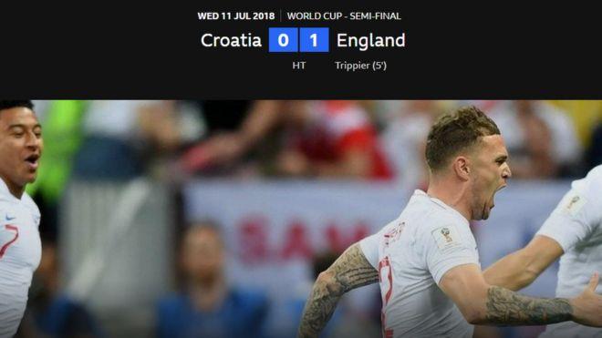 Kết thúc hiệp 1: Anh tạm dẫn 1-0 trước Croatia