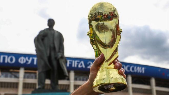 Réplica del trofeo oficial de la Copa del Mundo