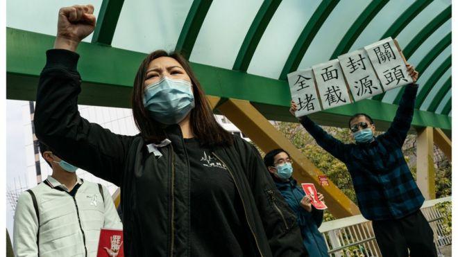 香港2千多名医护人员参与罢工,要求针对曾到访大陆的旅客实施入境限制。