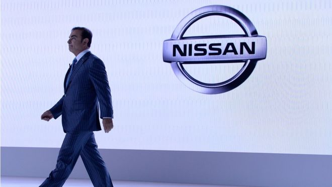 Carlos Ghosn, CEO of Nissan attends the media preview ahead of The 44th Tokyo Motor Show 2015 at Tokyo Big Sight on October 28, 2015 in Tokyo, Japan.