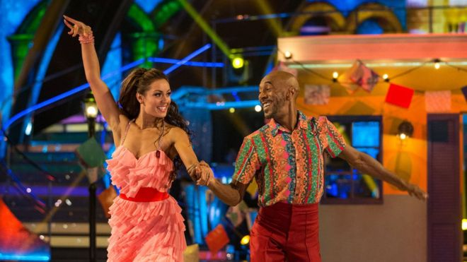 Danny John Jules And His Dance Partner Amy Dowden