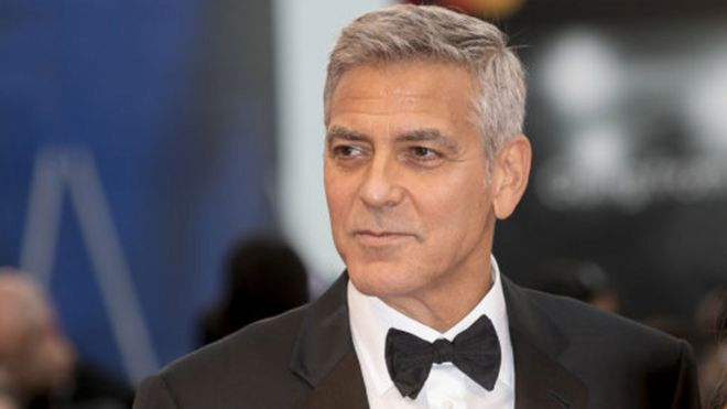 George Clooney injured in Italian motorbike crash - BBC News