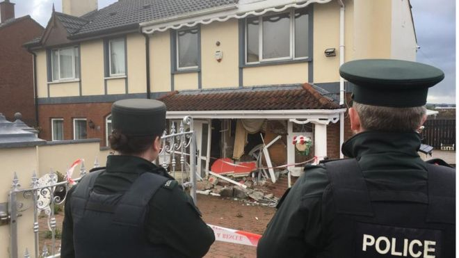 Surprising Derry Van Driven Into House In Reckless Act Bbc News Home Remodeling Inspirations Genioncuboardxyz