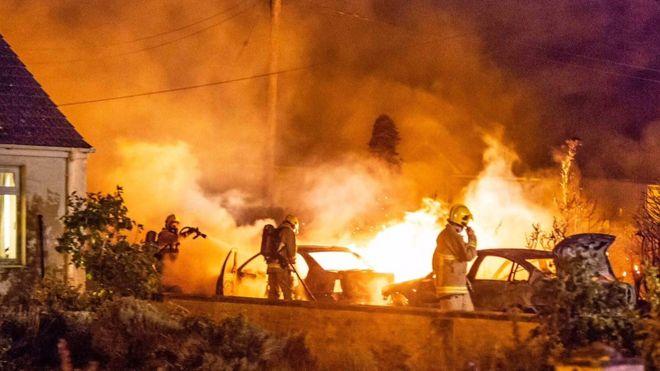 County Antrim Three Cars Deliberately Set On Fire Bbc News