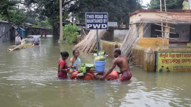 deadly south asia floods affect 16m people bbc news
