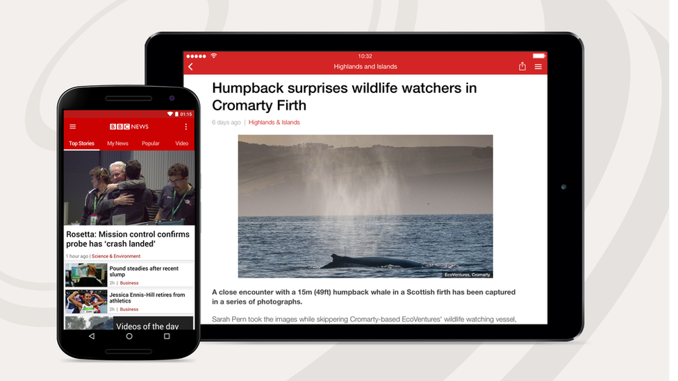 The BBC News app gives you the best of BBC News wherever you are