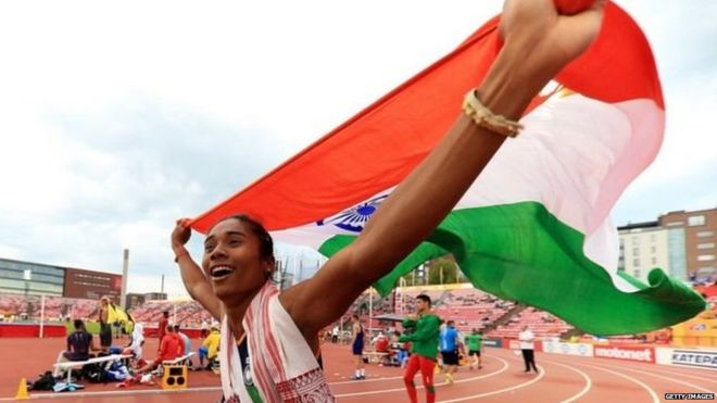 विश्व अंडर-20 एथलेटिक्स चैंपियनशिप में गोल्ड जीतने के बाद हिमा दास