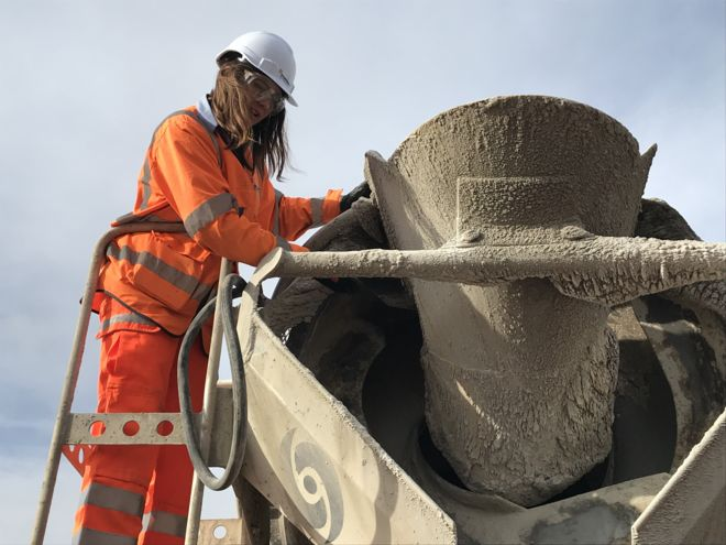 I love concrete', says woman causing stir in construction