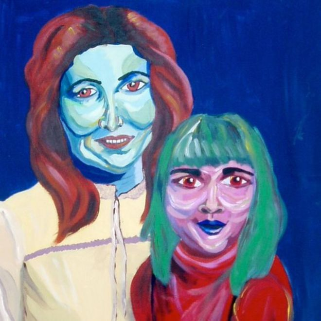Pintura de mãe e filha