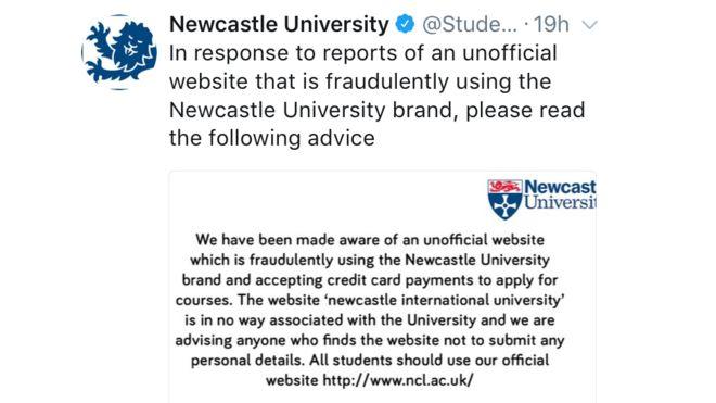 纽卡斯尔大学推特