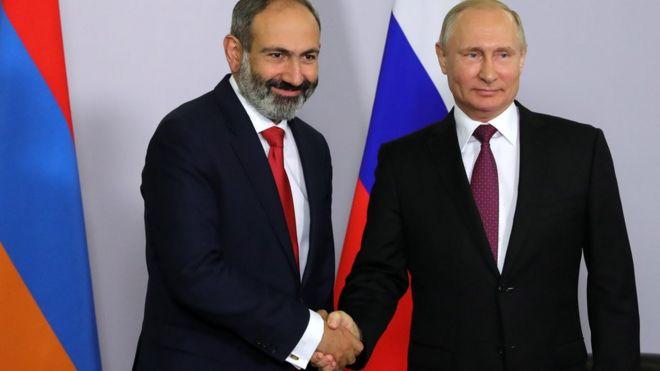 Image result for путин пашинян
