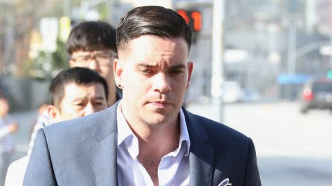 Mark Salling arrives for a court appearance at United States Courthouse - Central District of California on June 3, 2016