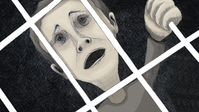 Ilustração de preso