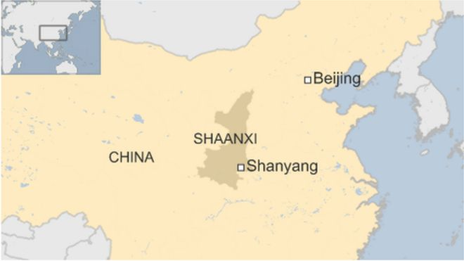 Dozens missing after landslide in shaanxi china bbc news map gumiabroncs Image collections