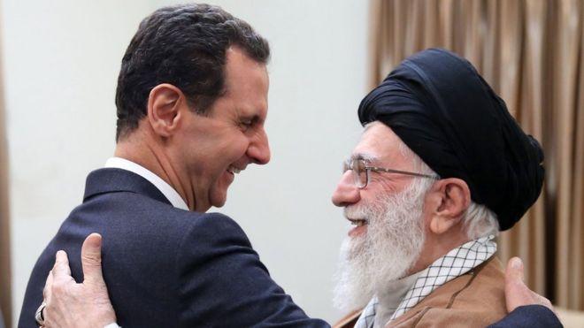 Risultati immagini per اسد در ایران خامنه ای