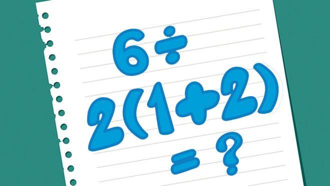 6 ÷ 2(1+2): Por qué la solución a esta sencilla ecuación es tan problemática _108145894_44448d6e-1639-4290-8f93-dcf68c874d2a